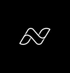 Letter n nn logo design simple vector