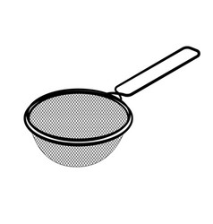 line drawing of sieve -simple line vector image