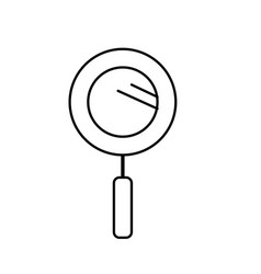 Line magnifying glass instrument to analyzing vector