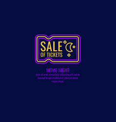 linear poster sale of tickets modern vector image