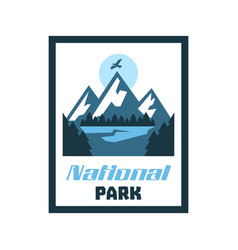 Logo card emblem sticker national park winter vector