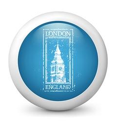 London Destination Glossy Icon vector image