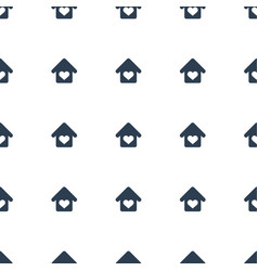 love home icon pattern seamless white background vector image