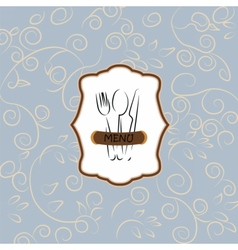 Menu vintage background with ornaments vector