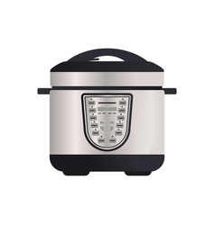 Multi cooker isolated icon vector