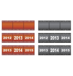 New Year filmstrips vector image
