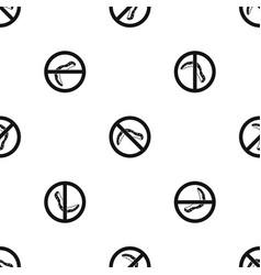no caterpillar sign pattern seamless black vector image vector image