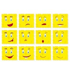 Piece of cheese cookies cartoon set vector