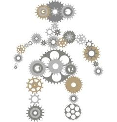 Robot of gears vector