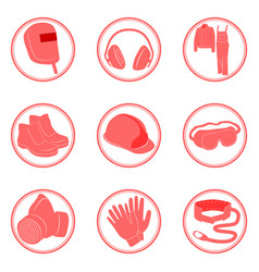 Safety infographics individual protective tools vector