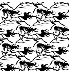 Seamless pattern of horse stallions vector image
