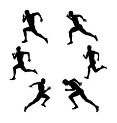 Set group sport athletics vector