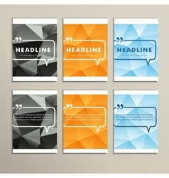 Set of brochures for design in abstract style vector image