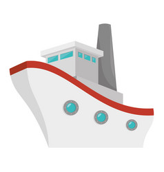 ship boat cruise icon vector image