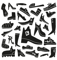 shoes doodles vector image