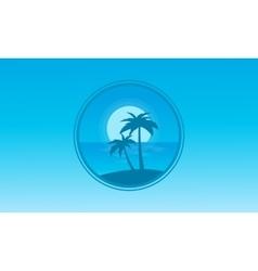 Silhouette of beach icon landscape vector
