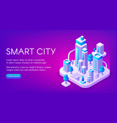 smart city technology vector image
