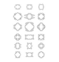 sunburst frame collection vector image