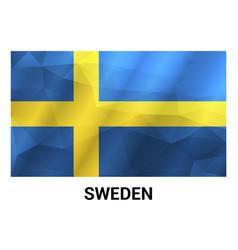 sweden independence day design card vector image