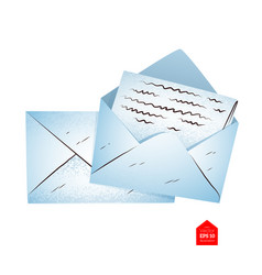 top view of envelopes vector image