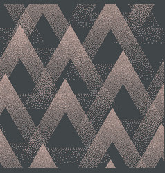 Trendy seamless pattern stippled triangles vector
