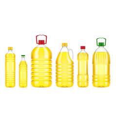 Vegetable oil bottle plastic isolated vector