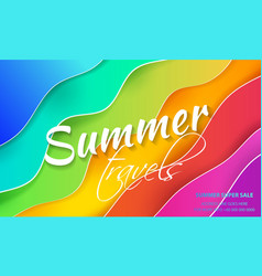 vertical banners with 3d abstract color background vector image