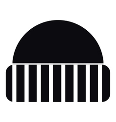 Warm hat icon simple style vector