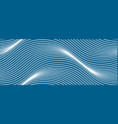 Wavy lines make with dots seamless pattern dotted vector