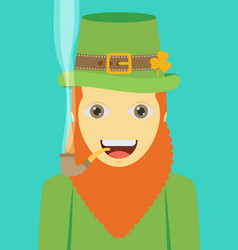 Flat design icon on saint patricks day character vector