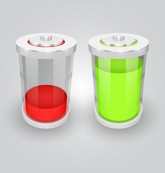 glass battery symbol vector image