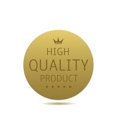 High quality label vector image vector image