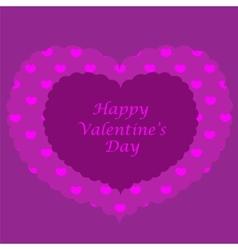 Purple valentine card seamless pattern vector image vector image