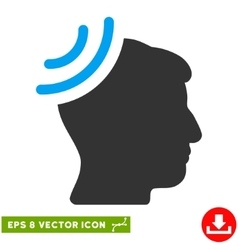 Radio Reception Brain Eps Icon vector image vector image