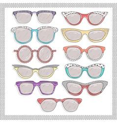 Retro sunglasses set vector