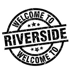 welcome to riverside black stamp vector image vector image