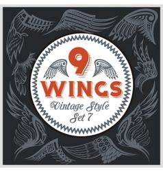 Wings Set Vinyl-ready vector image vector image