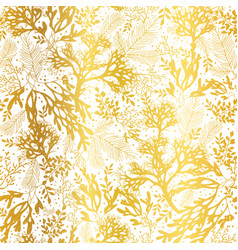 Gold and white seaweed texture seamless vector