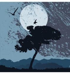 grunge landscape vector image vector image