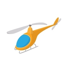 Helicopter icon cartoon style vector image vector image
