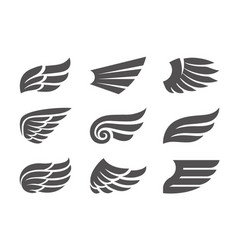 set of wings vector image vector image