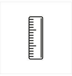 straightedge icon on white background vector image vector image