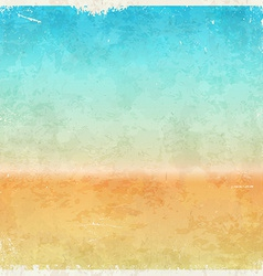 Vacation themed grungy background vector image vector image