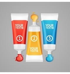Colorful Paint Tubes Set Menu Banners Option vector image