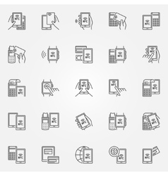 NFC payment icons vector image vector image