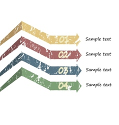 Bookmarks and arrows for text vector image