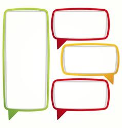 Colorful speech bubble frames vector image
