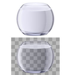 glasses of water on white background for vector image