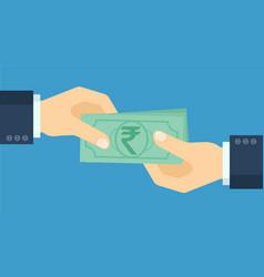 rupee icon vector image