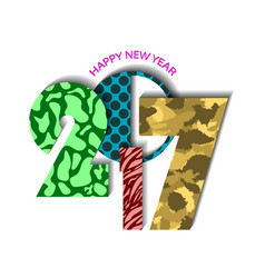 Textured urban new year 2017 concept on white vector